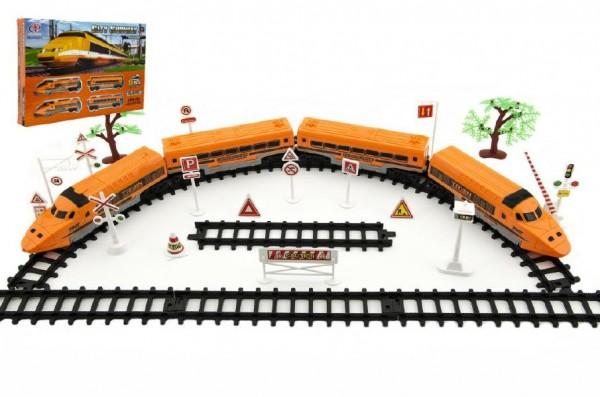Vláčkodráha plast 2 lokomotivy + 2 vagonky