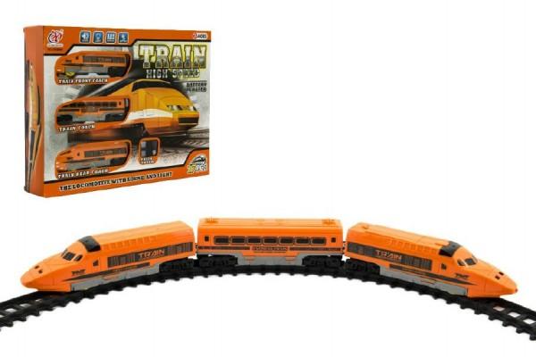 Vláčkodráha plast 2 lokomotivy + 1 vagonek