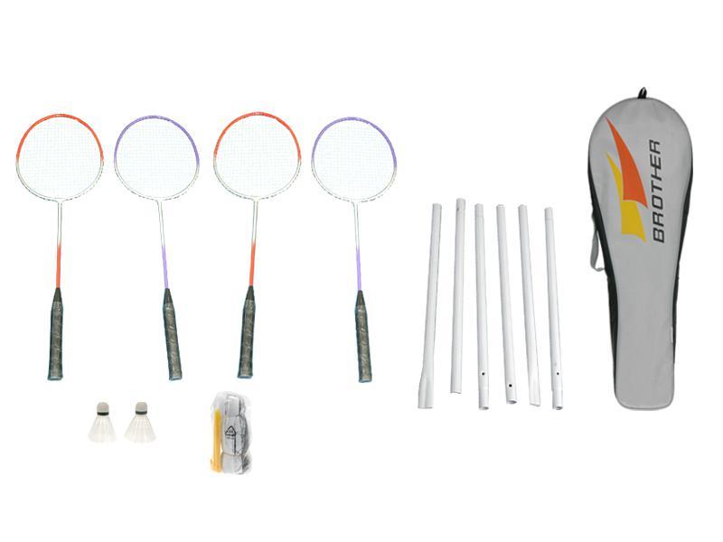Badminton set se síťkou 4ks