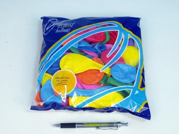 """Balónky nafukovací 7"""" pastel 100 ks"""