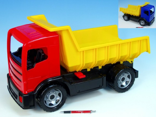 Fotografie LENA Auto nákladní sklápěč Mercedes 2-osý 62cm plast 3 barvy