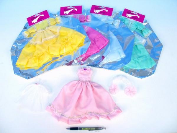 Šaty pro panenku plesové