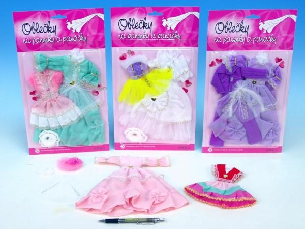 Šaty pro panenku sada