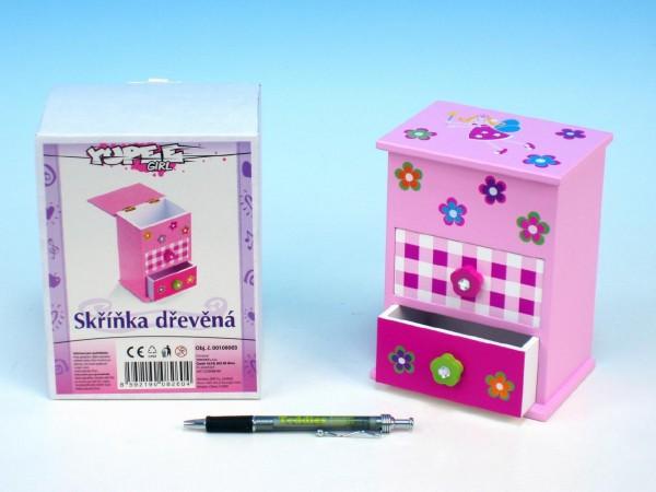 Skříňka pro panenky s 2 zásuvkami