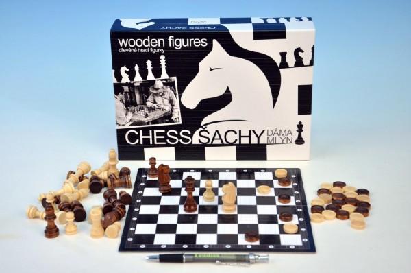 Šachy + dáma + mlýn