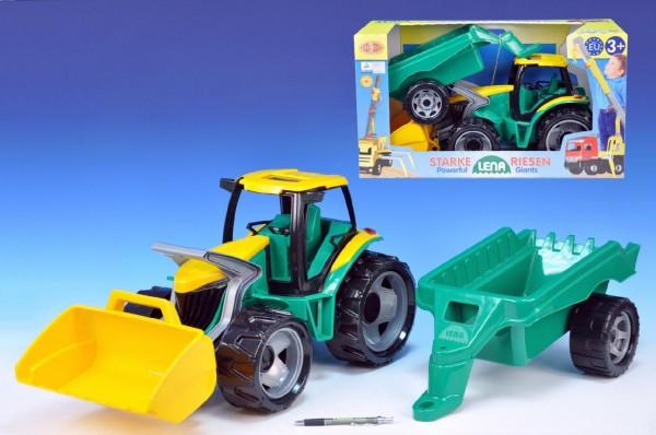 LENA Traktor plastový s přívěsem 110 cm
