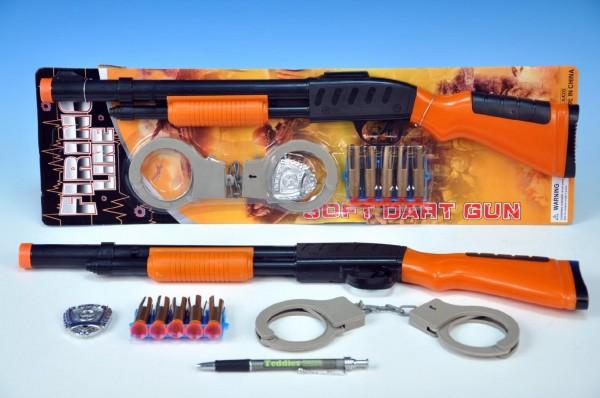 Kovbojská puška plast 50cm s náboji