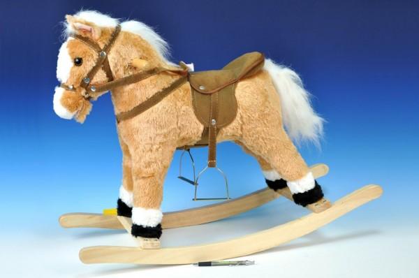 Houpací kůň béžový 60 cm se zvukem
