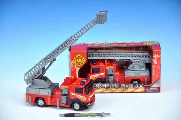 Model hasičské auto 22 cm